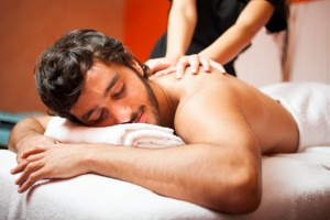 Free massage is offered to clients