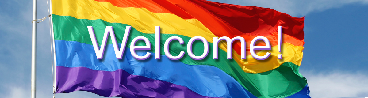 Pride flag Welcome